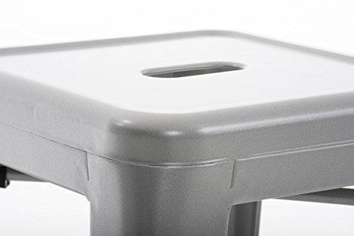 Sgabello Design Industriale : Clp panchetto multiuso armin in metallo sgabello design