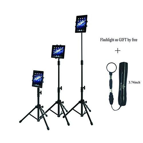 Raking Faltbarer Boden Tablet Stativständer-Halterungsfall innerhalb von 6.5-7.9 Zoll, Tragekoffer inklusive und Taschenlampe als Geschenk von Free