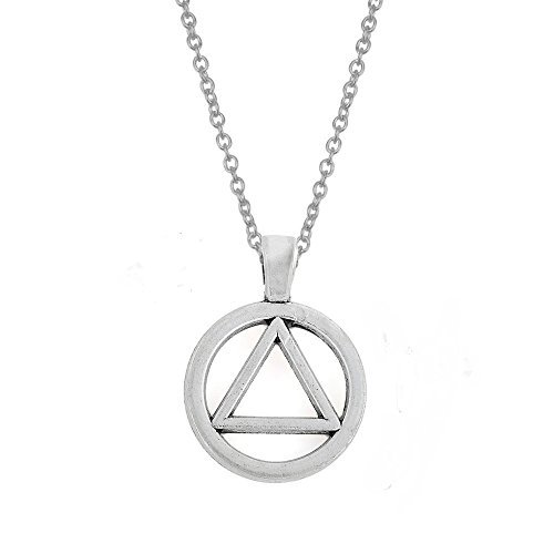 My Shape Zinc Alloy AA Symbol Alcoholics Anonymous Pendant Necklace Jewelry Gifts