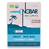 No Bar COCO & CHIA barres nutritionnelles & énergétiques 100% BIO - sans sucre ajouté - sans produits laitiers - cuisson cru - boîte de 4