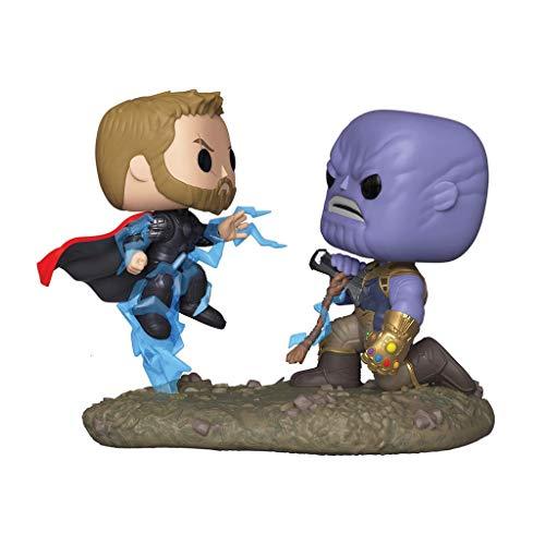 MC Iron Man Modell - Funko 35799 POP Bobble 2-Pack: Wunder: Filmmomente: Thor vs Thanos, Multi Statue (Color : A) (Iron Man Avengers Thor Vs.)