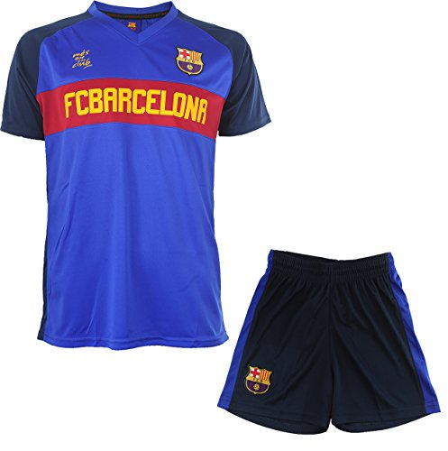 Fc Barcelone Ensemble Maillot + Short Barça - Collection Officielle Taille Enfant