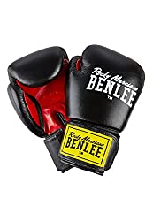 """BENLEE 1100 / 194006Rocky Marciano Leather Boxing Glove """"Fighter"""", Black / Red (Black / Red), GröM-_e: 10 oz"""