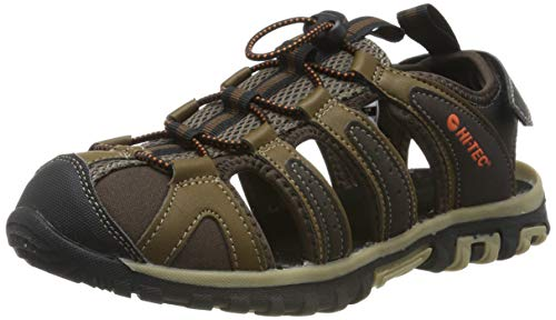 48935f34 Hi-Tec Cove Breeze, Sandalias de Senderismo para Hombre, Marrón  (Chocolate/Brown/Burnt Orange/Multi), 43 EU