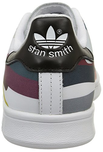 adidas Stan Smith, Baskets Basses Homme Blanc (White/White/Core Black)