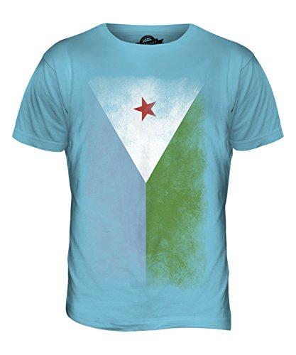CandyMix Dschibuti Verblichen Flagge Herren T Shirt Himmelblau