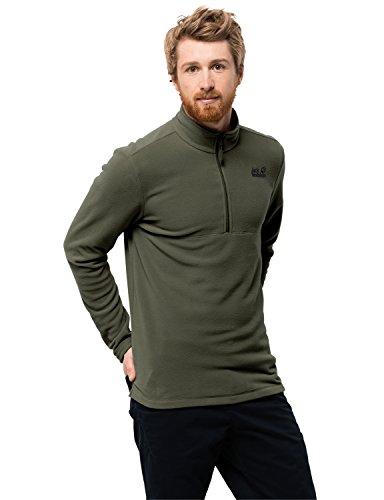 Jack Wolfskin Herren Gecko Fleecepullover, Woodland Green, M Woodland Fleece-sweatshirt