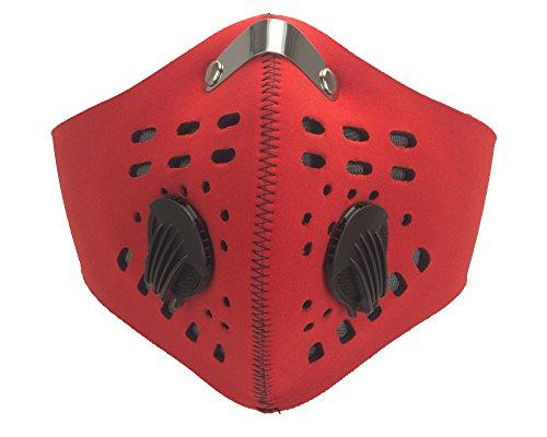 Kohle-fleece-mütze (DODOING Staubmasken Feinstaubmaske Atemschutzmaske mit Ventil PM2.5, Motorrad Fahrrad Outdoor Sport Training Face Maske mit Filter Anti Verschmutzung)