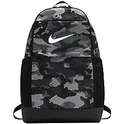 Nike Nk Brsla M Bkpk-AOP, Mochila Unisex Adultos, (Dark Grey/Black / Whit), 15x24x45 cm (W x H x L)
