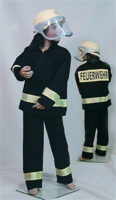 feuerwehrmann kostuem 116 Feuerwehr Anzug Gr. 116, 118.305.16