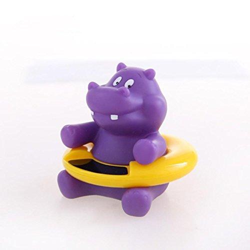 Baby Badethermometer Wasserthermometer Badespielzeug, Gusspower niedlichen Tier Säugling Bademantel Thermometer Wasser Temperatur Tester Spielzeug für Baden Sicherheit (Lila Nilpferd)