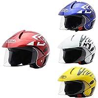 Casco de Moto para niños Casco Moto Electrica para Niños para Halley Medio Casco Seguridad Otoño