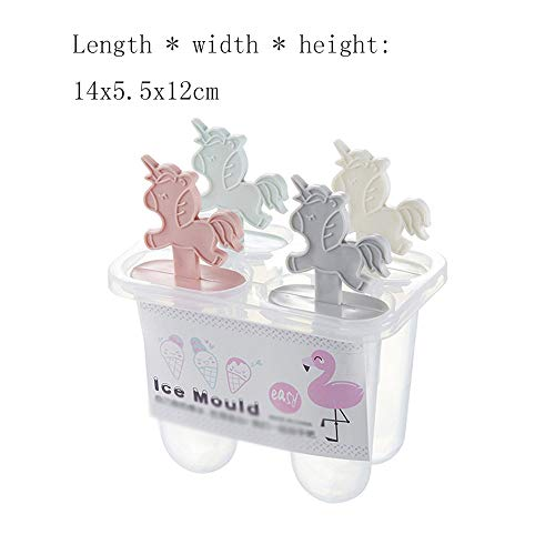 Eiswürfelbehälter 2 paket cartoon mehrgruppen eiswürfel hausgemachte eisform set eis am stiel box eis eis diy (4 grid / 6 grid) Küchen-Schnelleiszubereitungsgerät ( Color : Multi-colored , Size : B4 )