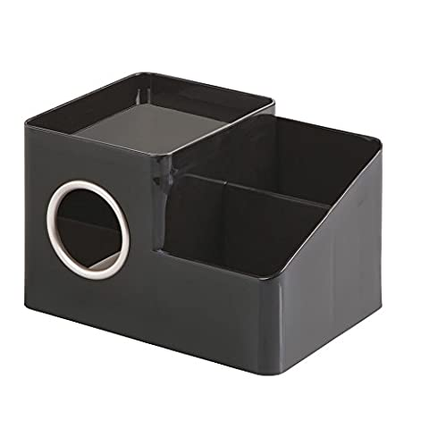 InterDesign Facial Tissue Box Cover and Storage Caddy,