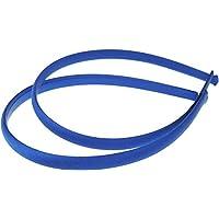 Mytoptrendz® Set Of 2 Girls Plain Slim Satin Alice Band Headbands Hair Band (Royal Blue), One Size