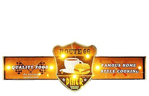 'Enseigne Lumineuse de Collection, idéal pour Bar modèle Route 66 Diner, Mesure cm 65 x 22h