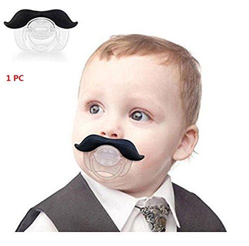 Distinct® lustige Neuheit der Gentleman Schnurrbart Schnuller Brustwarze für Säuglinge Neugeborene jungen & Mädchen - 1 (Bärte Und Schnurrbärte)