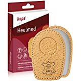 Heel Cups For Calcaneal Spurs - Orthopedic Shoes Insoles - Heelmed Leather Heel Pads Orthotic Shoe Inserts For...
