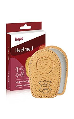 Inserti per spina calcaneare - solette per scarpe ortopediche - pads in pelle - inserti per scarpe per uomo e donna - allevia il dolore al tallone (41-43 eur)