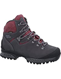 Hanwag Gritstone II GTX Shoes Women asphalt/dark garnet 2019 Schuhe grau schwarz Sonstige Outdoor-Bekleidung
