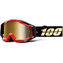 100% Men's Racecraft Mirror True Gold Lens Goggles, Hot Rod, One Size