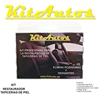 Kit restauracion tapicerias de piel,color negro .KITAUTOS.