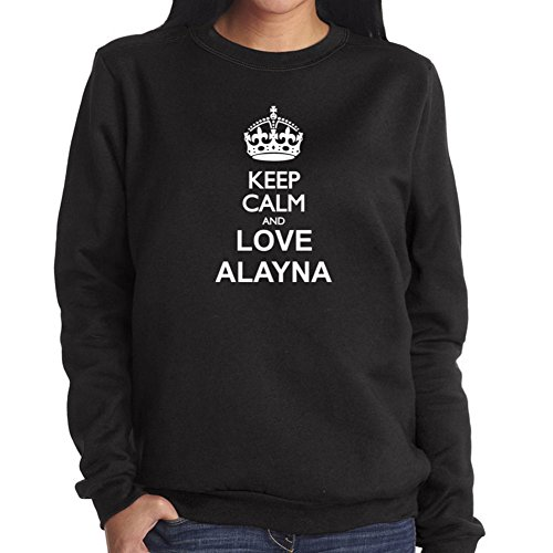 Felpa da Donna Keep calm and love Alayna