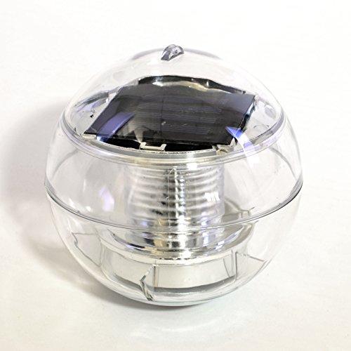 Nexos 5er Set Solar Schwimmkugel 2 Led Weiß Solarlampe Kugel 12 X 12
