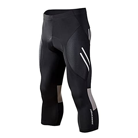 Souke Sports Mens Cycling Tights 3D Padded Legging Cycling Trouser Cycling Capris & Cycling Long