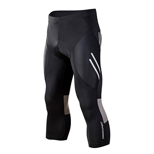 Souke Sports Herren Radsport Lang Fahrradhose 3D gepolsterte Legging Radsport Hosen Radsport Shorts & Radsport Capris & Radsport Lange Hosen