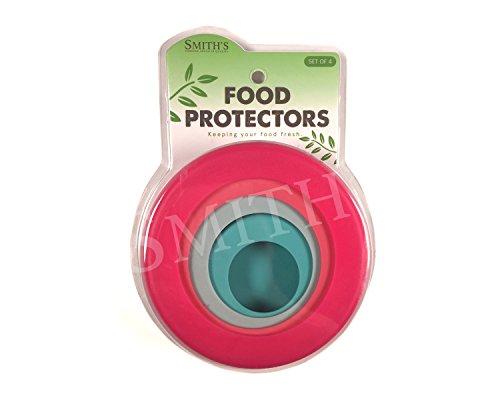 Smith's 4er-Pack wiederverwendbare Silikon-Nahrungsmittelretter für Obst und Gemüse in Lagerbehältern - 4 Größen in Süßigkeiten