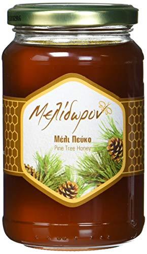 Melidoron Roher Griechischer Kiefernhonig, 1 Pack (450 g) (Griechischer Reiner Honig)