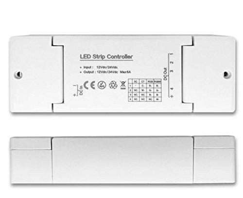 ZigBee 4 Kanal Dimmaktor Alexa kompatibel für LED Flexbänder und Spots, 12-24 V/DC, 6A, maximal 144W bei 24V