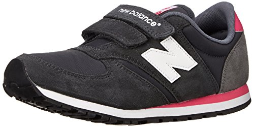 New Balance NBKE420GEP Sneaker, Bambino, Grey/Pink, 34.5 EU