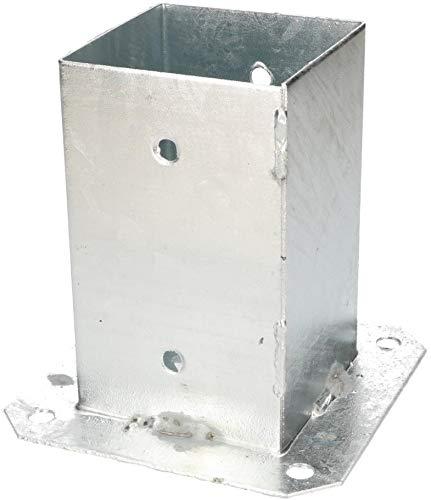KOTARBAU Aufschraubhülse 90 x 90 mm Vierkantholzpfosten Pfosten Bodenhülse Zaunträger Hülse Feuerverzinkt Bodenplatte Pfostenträger Anker