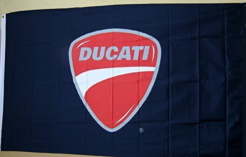 Ducati Black Logo Flag 3' x 5' Indoor Outdoor Deluxe Motorcycle Banner by Car Flags -