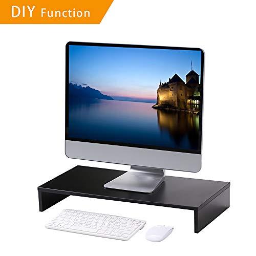Office-podest (RFIVER Podest Monitorständer Notebookständer Laptopständer Computertisch mehrere Kombinationen DIY 54 x 25,5 x 8 cm Schwarz CM1007)