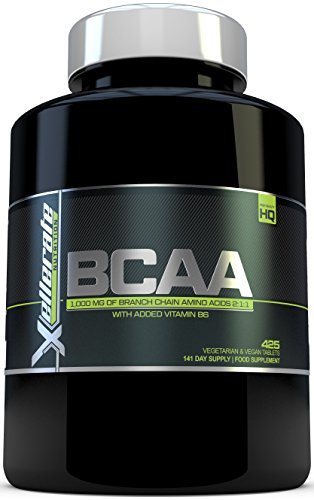 Foto de BCAA Comprimido 1000 mg - 425 Comprimidos - 3000 mg Dosis Diaria - Suministro para 141 Días - 2:1:1 Aminoácidos De Cadena Ramificada con B6 - Ingredientes Incluyen L-Leucina, L-Isoleucina, L-Valina