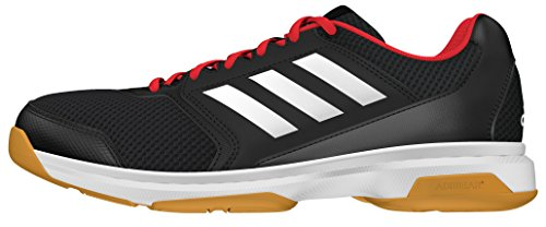 adidas Herren Multido 50 Handballschuhe, Black (Negbas/Ftwbla/Rojint), 48 EU