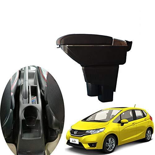 Preisvergleich Produktbild szss-car Leder Auto Mittelkonsole Armlehne Box Armlehnen Aufbewahrungsbox (Schwarz)