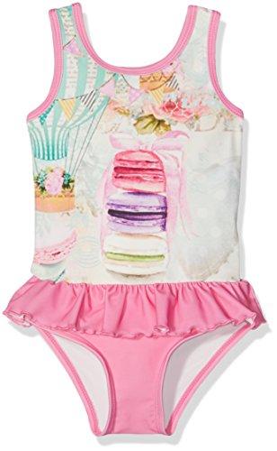 Pezzo D'oro Baby-Mädchen Einteiler Badeanzug, Rosa (Creme 2203), 86