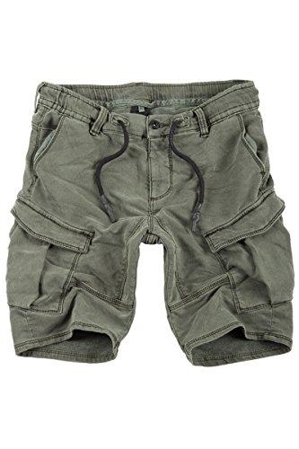 Sublevel Jogg Jeans Shorts Herren Kurze Hose Denim Sommer Jogger Bermuda Chino (Grün-57KA, W31)