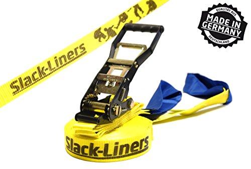 Slack-Liners Set, 15 m lang, 5 cm breit