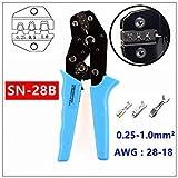 SN 28B : MXITA SN-28B/SN-48B TAB 0.25-1.0mm2 Terminal Crimping Pliers Tool car Connector Crimping Tool