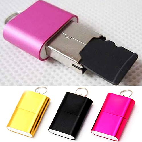 Dandeliondeme Cool High Speed Mini USB 2.0 Micro SD TF T-Flash Memory Kartenleser Adapter 2,7 x 1,8 x 0,7 cm 2 Microsd