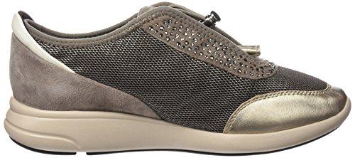 Geox Damen D Ophira B Sneakers Braun (CHESTNUT/TAUPEC6132)