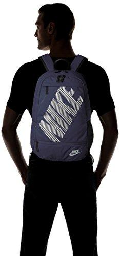 Nike 25 Ltrs Obsidian/Black/Wolf Grey School Backpack (BA4862-452) Image 6