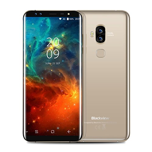 "Preisvergleich Produktbild Handy Smartphone Ohne Vertrag Blackveiw S8 3G Android7.0 Neu Smartphone ,5.7 ""HD ,1.5GHZ Octa Core,4GB RAM 64GB ROM,Dual SIM ,13MP+0.3MP 4 Kamera, 3180mah mit Fingerabdruck ID Sensor . (Gold)"
