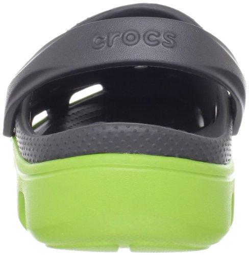 Crocs Duet Sport Clog, Unisex - Zoccoli Per Adulti Grigi (grafite / Volt Verde)