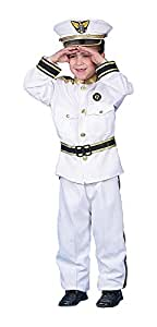 Dress up America Toddler Deluxe Navy Admiral Costume Set